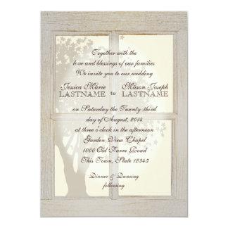 Vintage Country Window Frame Wedding Card