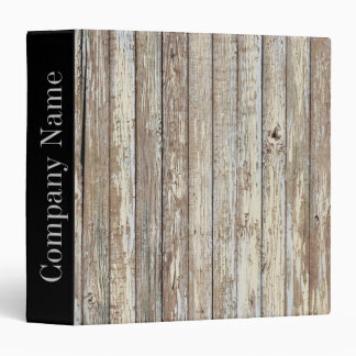 vintage country wood grain construction business binder