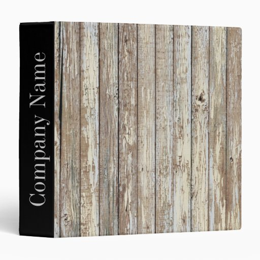 Vintage country wood grain construction business binder for Home construction binder