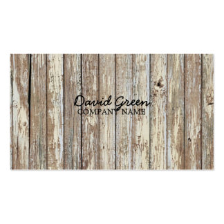 vintage country wood grain construction business Double-Sided standard business cards (Pack of 100)