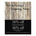 Vintage Country Wood Grain Construction Business Flyer at Zazzle
