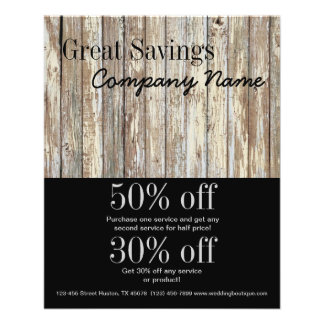vintage country wood grain construction business flyer