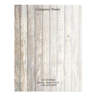 vintage country wood grain construction business letterhead