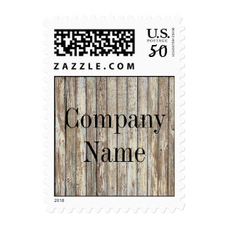 vintage country wood grain construction business postage