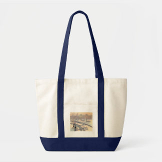 Vintage Countryside Christmas Tote