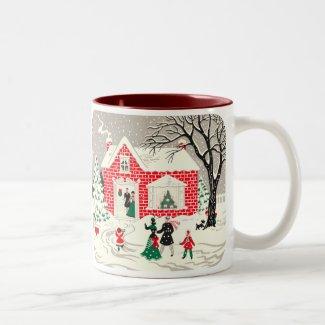 Vintage Countryside Greetings Mug
