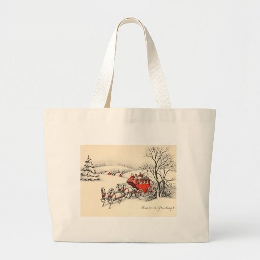 Vintage Countryside Jumbo Tote Jumbo Tote Bag