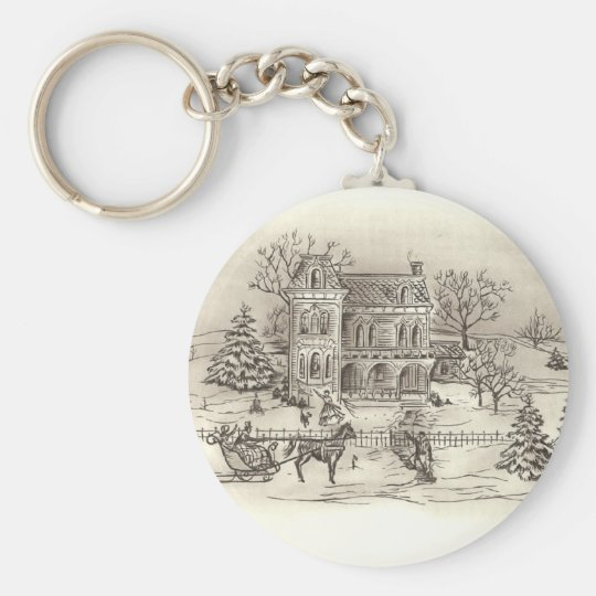 Vintage Countryside Keychain