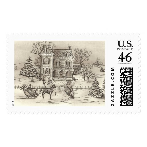 Vintage Countryside Large Postage