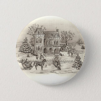 Vintage Countryside Round Button