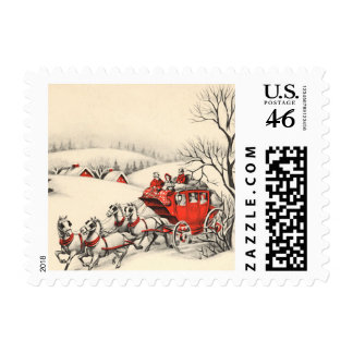 Vintage Countryside Small Postage
