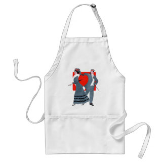 Vintage Couple Adult Apron