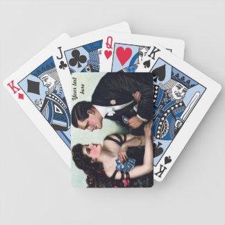 vintage couple card players customizable