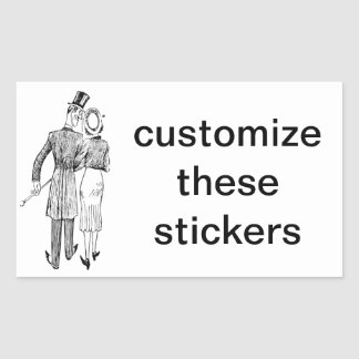 Vintage Couple in Love Rectangular Sticker