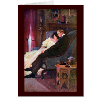 Vintage Couple in Sitting Room Card