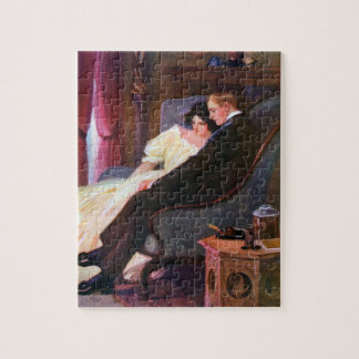 Vintage Couple in Sitting Room Jigsaw Puzzles