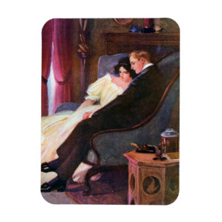 Vintage Couple in Sitting Room Magnet