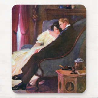 Vintage Couple in Sitting Room Mouse Pad