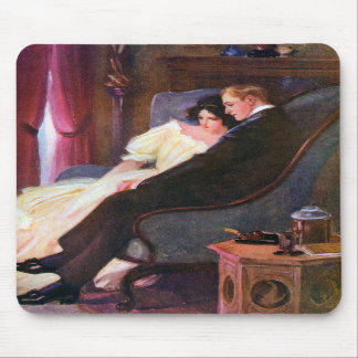 Vintage Couple in Sitting Room Mousepads