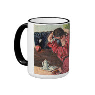 Vintage Couple Kissing Valentines Mug