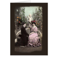 Vintage Couple Proposal Valentines Greeting Card