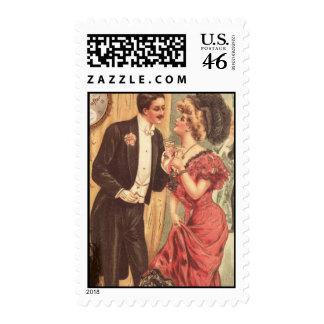 Vintage Couple Stamp Sheet
