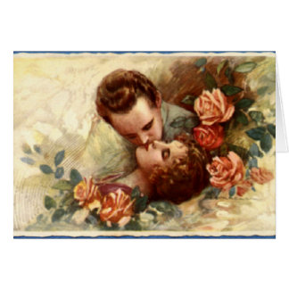 Vintage Couple Valentine Greeting Card