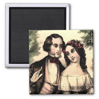 Vintage Couple Valentine Square Magnet