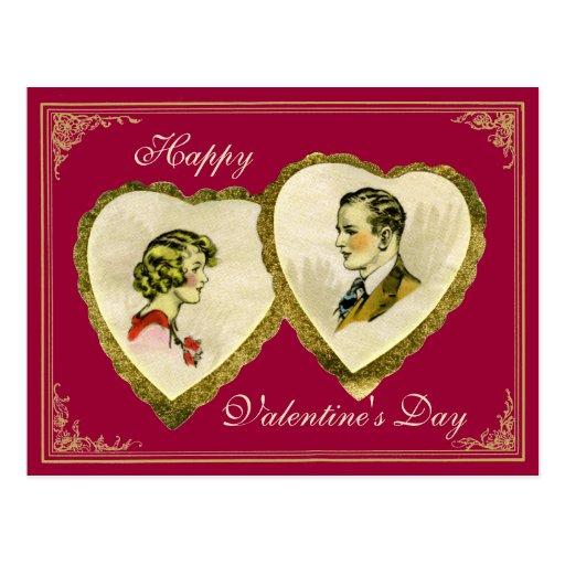 Vintage Couple Valentine's,Wedding,Anniversary PC Postcards