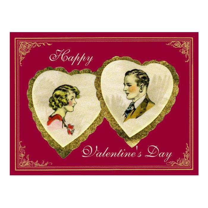 Vintage Couple Valentine's,Wedding,Anniversary PC Postcard
