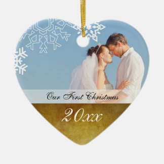 Vintage Couple's First Christmas Ornament