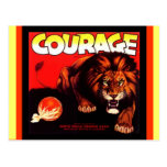 Vintage Courage Brand Lion Fruit crate Postcards