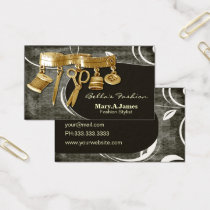 vintage couture dressmaker business cards