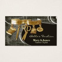 vintage couture dressmaker business cards