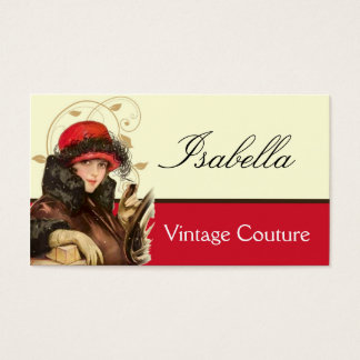 Vintage Couture Fashion Business Card