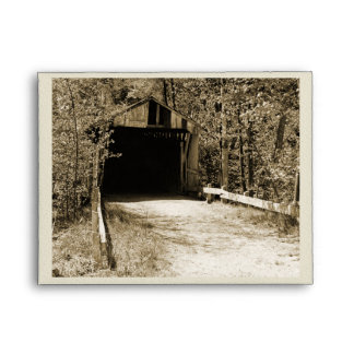 Vintage Covered Bridge Envelope
