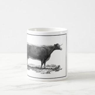 Vintage cow etching mug