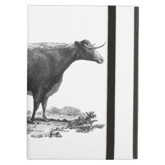 Vintage cow etching tablet case