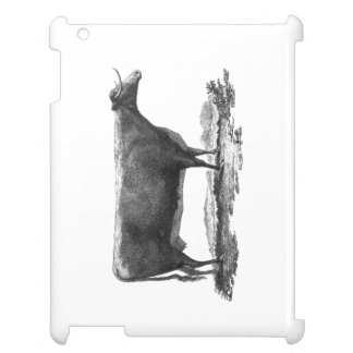 Vintage cow etching tablet case iPad cases