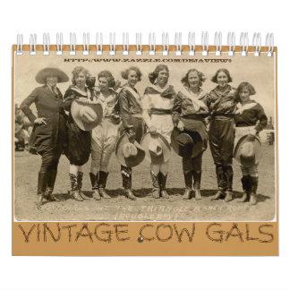 """""""Vintage Cow Gals"""" Calendar"""