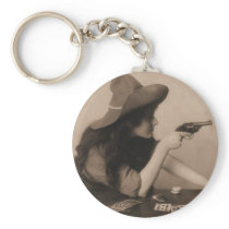 Vintage Cow Girl Keychain