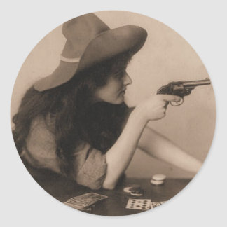 Vintage Cow Girl Sticker