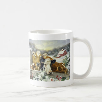 Vintage Cow Image Coffee Mug
