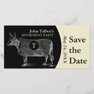 vintage retirement save the date cards zazzle