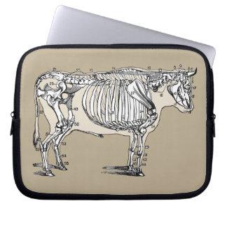 Vintage Cow Skeleton Computer Sleeve
