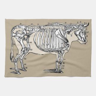 Vintage Cow Skeleton Kitchen Towels