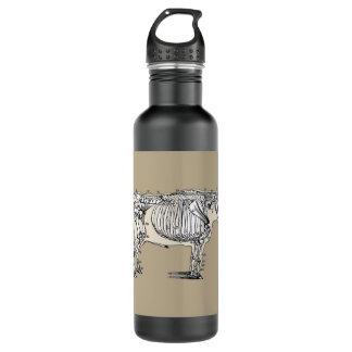 Vintage Cow Skeleton Stainless Steel Water Bottle