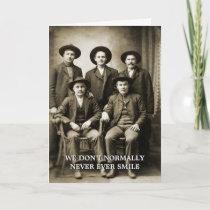 Vintage Cowboy Antique Men West Photo Funny Card