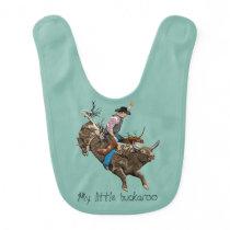Vintage cowboy baby bib