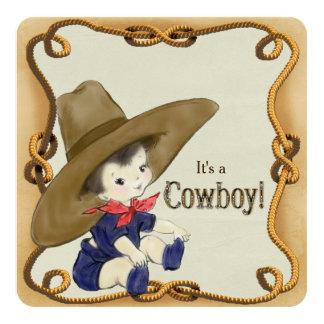 vintage cowboy baby shower invitations announcements zazzle